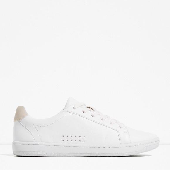Zara Shoes | Zara Soft Leather Sneakers